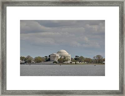 Cherry Blossoms With Jefferson Memorial - Washington Dc - 011329 Framed Print by DC Photographer