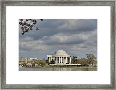 Cherry Blossoms With Jefferson Memorial - Washington Dc - 011339 Framed Print