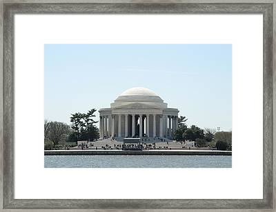 Cherry Blossoms With Jefferson Memorial - Washington Dc - 01135 Framed Print by DC Photographer