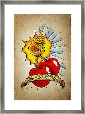 Cherry Bomb Framed Print