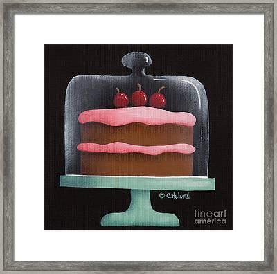 Cherry Chocolate Cake Framed Print