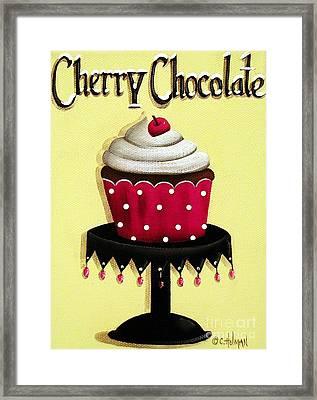 Cherry Chocolate Cupcake Framed Print