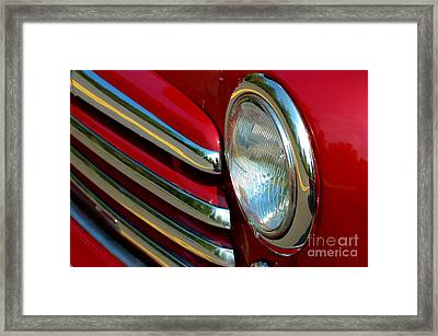 Framed Print featuring the photograph Cherry Chrome by Christiane Hellner-OBrien