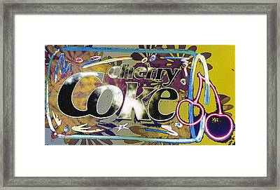 Cherry Coke 10 Framed Print by John Keaton
