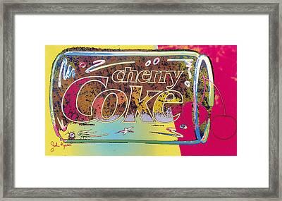 Cherry Coke 5 Framed Print by John Keaton