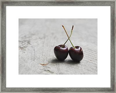 Framed Print featuring the photograph Cherry Duo by Jocelyn Friis