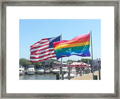 Cherry Grove Fire Island Framed Print by French Toast