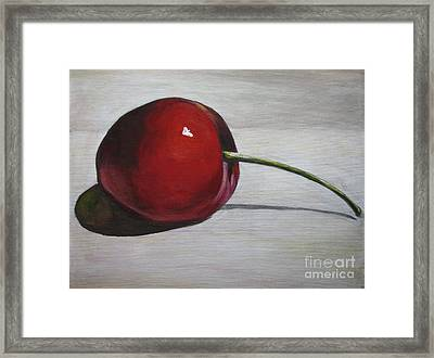 Cherry Framed Print