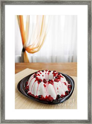 Cherry Jelly Cake Framed Print by Ciprian Kis