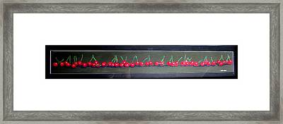 Cherries In A Row Framed Print
