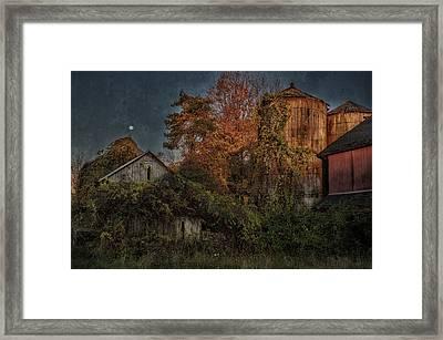 Full Moon Over Tobin's Farm - A Connecticut Autumn Scenic Framed Print