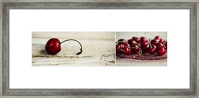 Cherry Framed Print by Nailia Schwarz