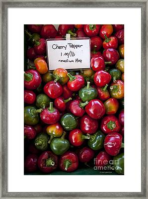 Cherry Peppers Framed Print by Janice Rae Pariza