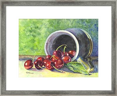 Cherry Pickins Framed Print