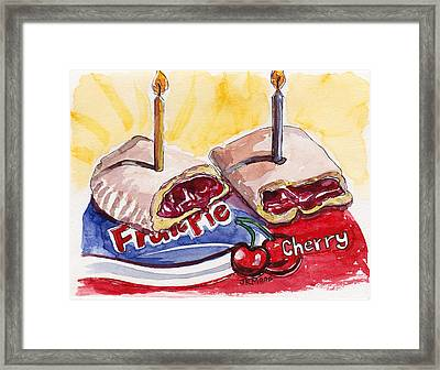 Framed Print featuring the painting Cherry Pie Indulgence by Julie Maas