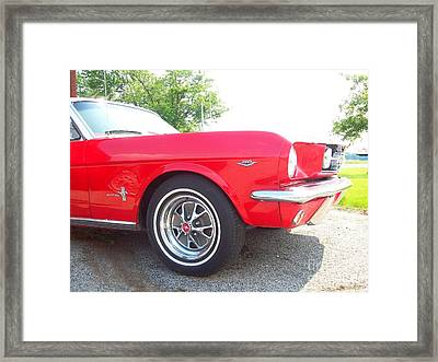 Cherry Red Mustang Framed Print