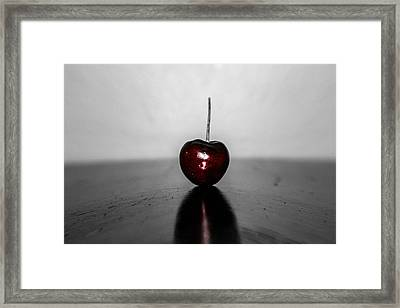 Cherry Red Framed Print by Steven  Taylor