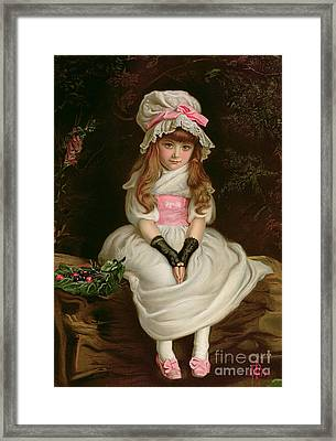 Cherry Ripe Framed Print by Sir John Everett Millais