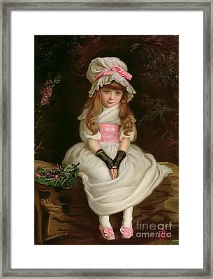 Cherry Ripe Framed Print by Sir John Everett Millais