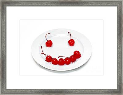 Cherry Smile Framed Print by Amy Cicconi