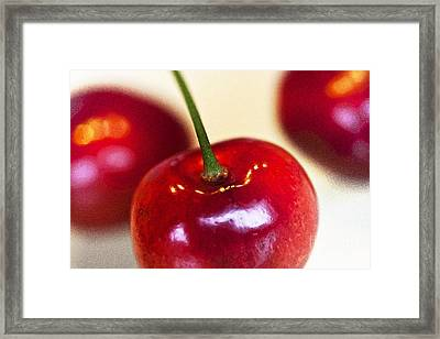 Cherry Still Life Framed Print by Heiko Koehrer-Wagner
