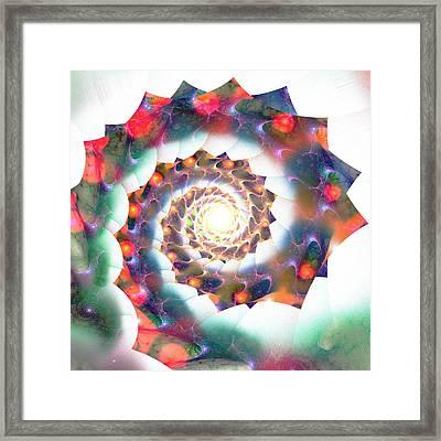 Cherry Swirl Framed Print by Anastasiya Malakhova