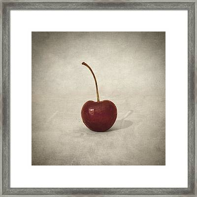 Cherry Framed Print by Taylan Apukovska