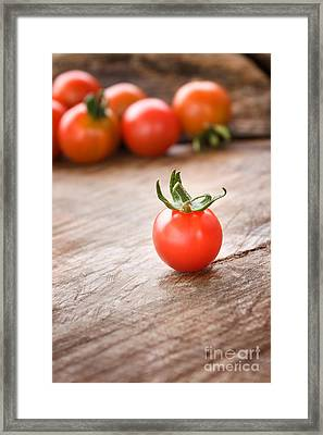 Cherry Tomatoes Background Framed Print