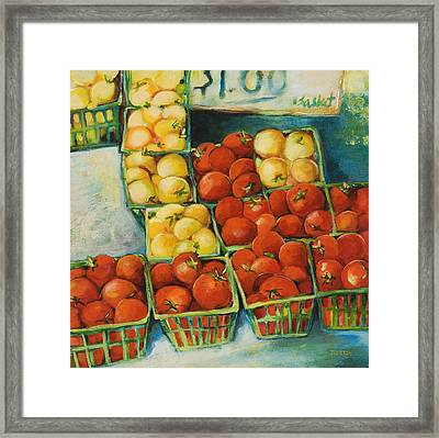 Cherry Tomatoes Framed Print by Jen Norton