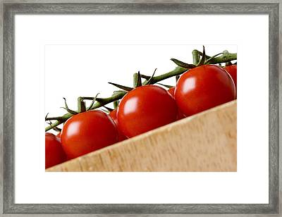 Cherry Tomatoes Framed Print by Nicole Neuefeind