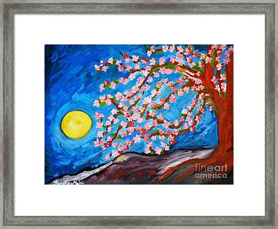 Cherry Tree In Blossom  Framed Print by Ramona Matei