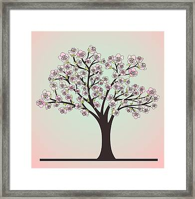 Cherry Tree With Blossoms Framed Print by Olivera Antic