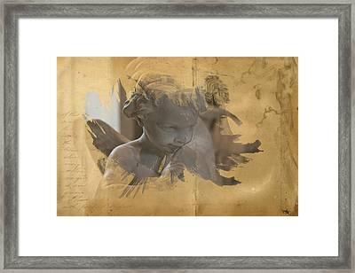 Cherub Framed Print by Evie Carrier