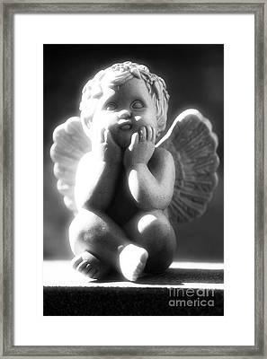 Cherub Framed Print by John Rizzuto