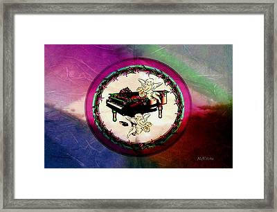 Framed Print featuring the digital art Cherub Songs by Mary Anne Ritchie