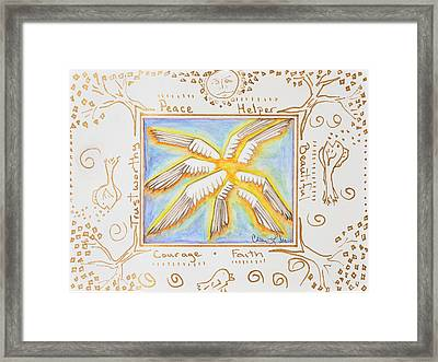 Cherubim Framed Print by Cassie Sears