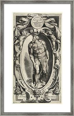 Cherubino Alberti After Michelangelo, Saint John The Baptist Framed Print by Quint Lox