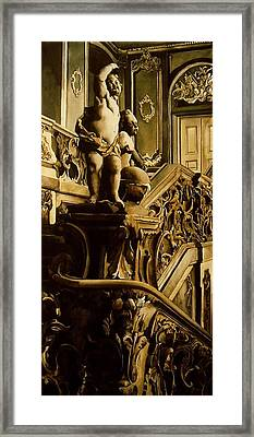 Cherubs On The Stairs Framed Print by Alfred Ng