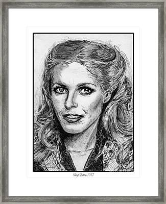 Cheryl Ladd In 1977 Framed Print by J McCombie