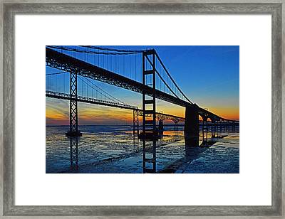 Chesapeake Bay Bridge Reflections Framed Print