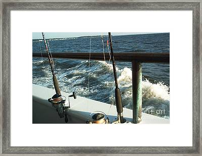 Framed Print featuring the photograph Chesapeake Bay Fishing by Emmy Marie Vickers
