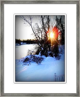 Chesapeake Bay  Winter Wonderland Framed Print by Danielle  Parent