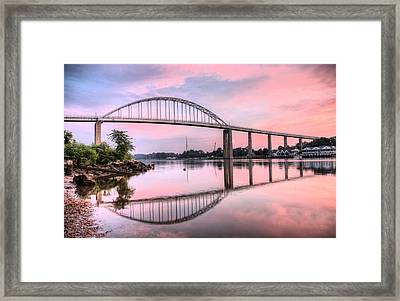 Chesapeake City Pink Framed Print