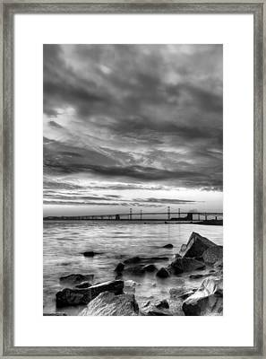 Chesapeake Mornings Bw Framed Print
