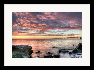 Sandy Point Park Framed Prints