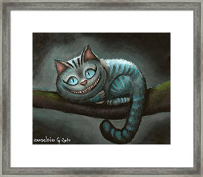 Cheshire Cat Framed Print by Eusebio Guerra