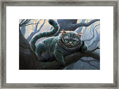 Cheshire Cat Framed Print by Movie Poster Prints