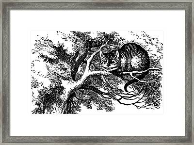 Cheshire Cat Smiling Framed Print by John Tenniel
