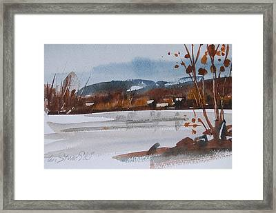 Cheshire Lake Study Framed Print