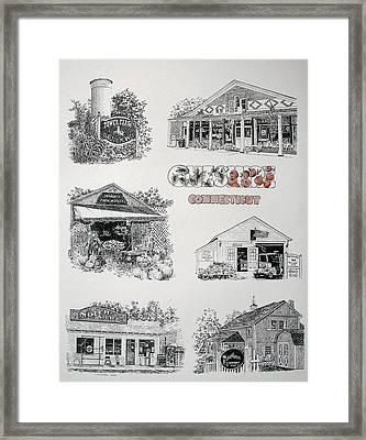 Cheshire Landmarks Framed Print